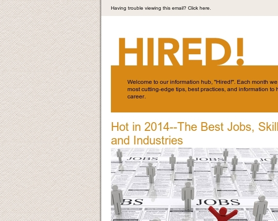 Hot in 2014--The Best Jobs, Skills and Industries