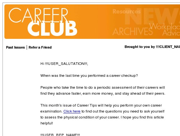 Career Club: Give Your Career a Check Up