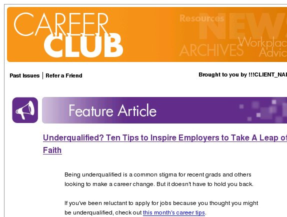 Underqualified? Think Again!